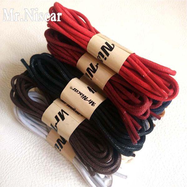 Mr.Niscar 1 Pair Waxing Shoelaces for Dress Leather Shoes Waterproof Shoe Laces Snow Martin Boots Sport Shoelace 60-180cm 0.25cm