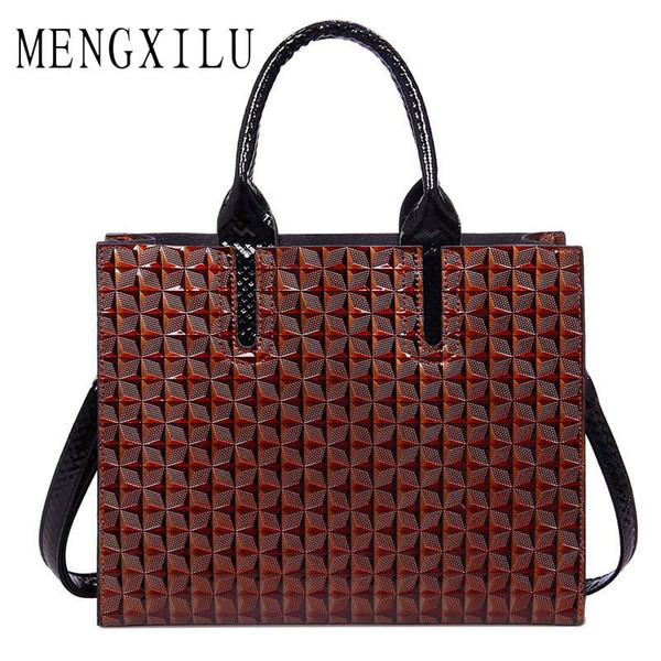 MENGXILU Leather Bags Handbags Women Famous Brand Big Women Bags Trunk Tote Spanish Brand Shoulder Bag Ladies large Bolsos Mujer Y1892708