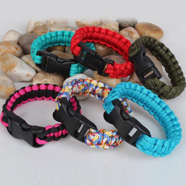 DHL Self-rescue Paracord Parachute Cord Bracelets Survival bracelet Camping Travel Kit