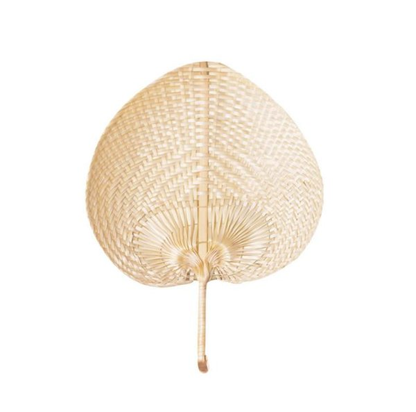 100pcs/lot Palm Leaves Fans Handmade Wicker Natural Color Palm Fan Traditional Chinese Craft Wedding Favor Gifts SN2651