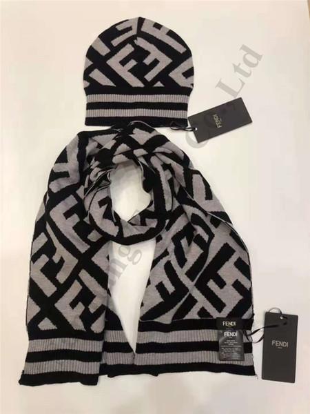 Trendy Winter Hat Scarf Set F Letters Fends Brand Women Men Beanie Skull Cap Warm Knitting Hat Sets Two Piece Outdoor Headwears C120505