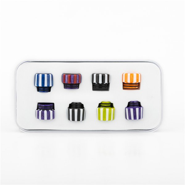 Newest Resin 510&810 Candy Drip Tip kit For TFV8 TFV12 Prince TFV8 Big Baby Atomizer 528 DHL