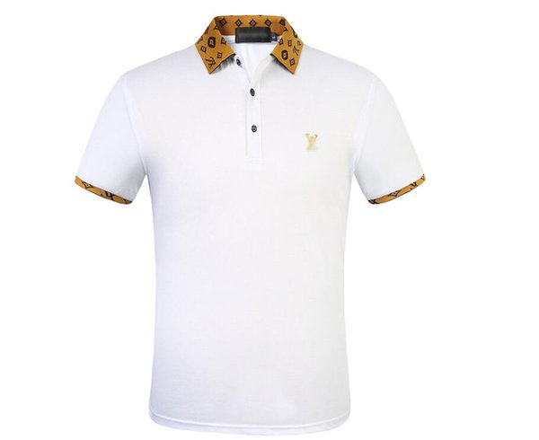 Mens Polo T-shirts GUC'CI Eté Manches Courtes Kanye West Turn Down Collar Hauts Manches Courtes Polo Shirts