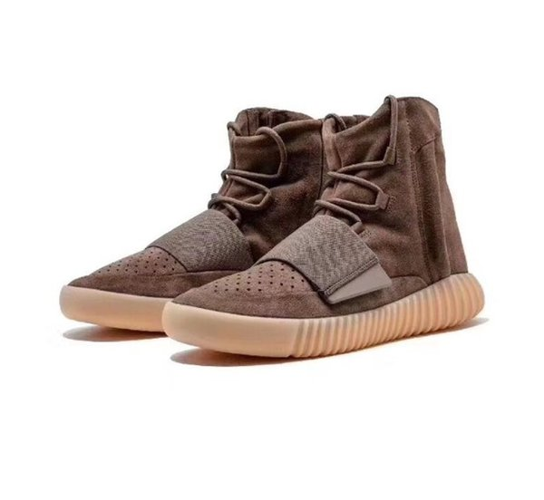 NEN 750 Sneakers Glow In The Dark Brown Kanye West Leather Ankle Boots Men's Sport Running Shoes With DHL Free