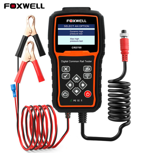 Foxwell CRD700 Digital Common Rail Tester System Tools OBD2 Code Reader Scanner Check Pump Ba Test High Pressure Tester Tool