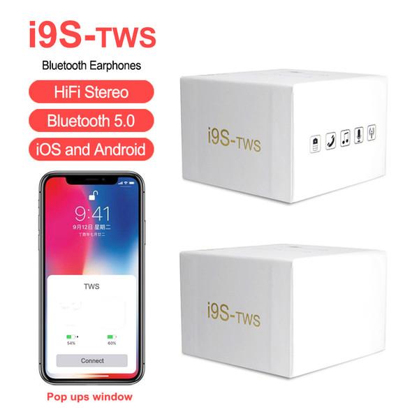 I9S TWS fone de ouvido sem fio Invisible Earbud Portátil Bluetooth fone de ouvido Mini Bluetooth Earbud com Microfone Para IPhone Android Com Pacote