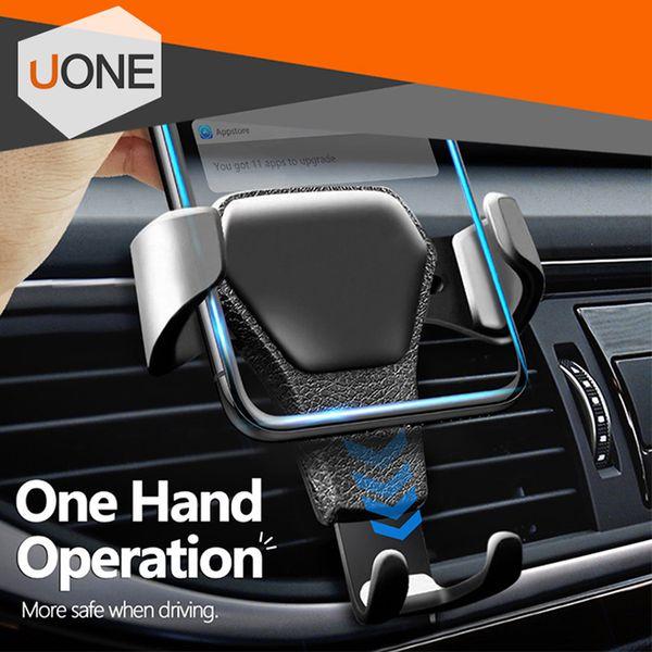 Carro universal montar suporte do telefone suporte de ventilação de ar para o carro sem suporte magnético telefone suporte do telefone móvel com pacote de varejo