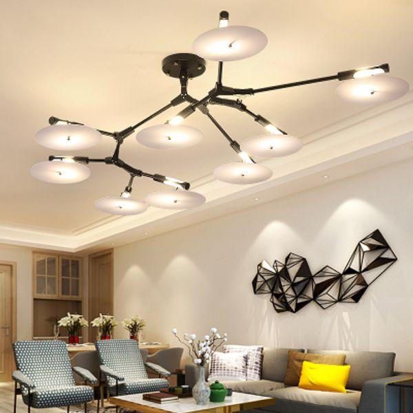 Acheter Lustres Modernes A Led Metal Or Lustre Interieur Eclairage Pour Salon Salle A Manger Luminaires De Cuisine Luminaire Lampadari Lampes De