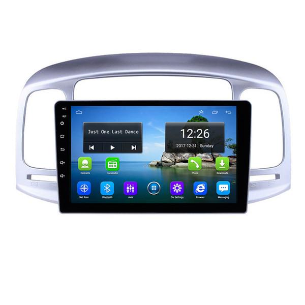 Android 4G LTE HD 1080P auto lettore musicale MP3 eccellente bluetooth mappa gratuita fotocamera frontale GPS di alta qualità per accento Hyundai 2006-2011 9 pollici