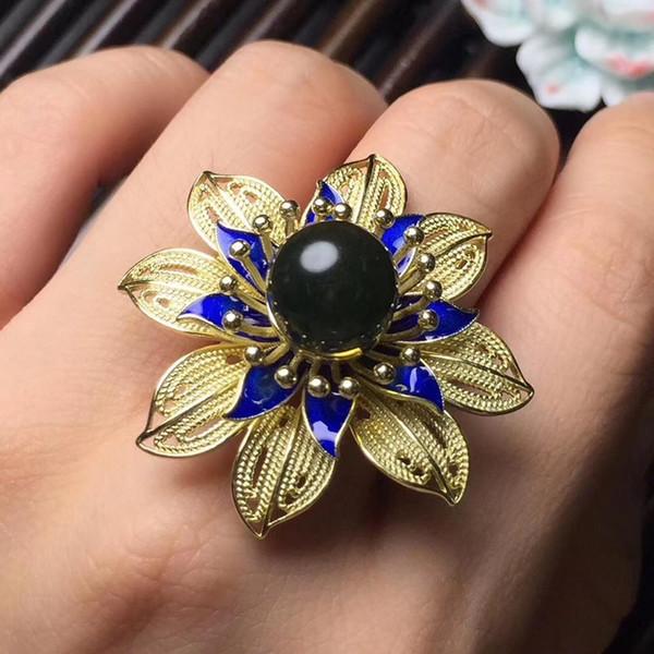 Bijoux fins Réel 925 Sterling Argent S925 Naturel Bleu Opale Gemme Bijoux Femelle Ensemble pour les Femmes Fine Sets