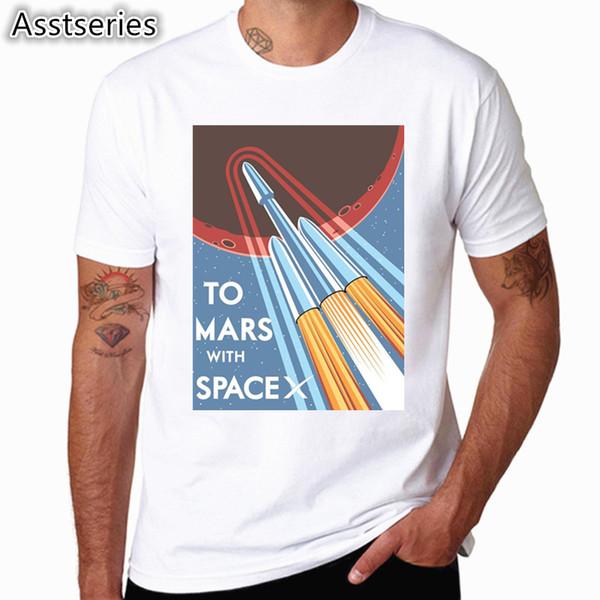 SpaceX T-shirt Dos Homens do Espaço X Logotipo dos homens T-shirt Popular Personalizado Manga Curta Ocupar Tshirt HCP4538
