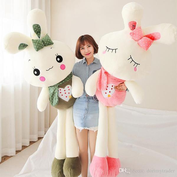 LOVE rabbit plush doll large stuffed kawaii cartoon bunny toy sleeping dolls for girl gift 120cm 150cm 170cm DY50268