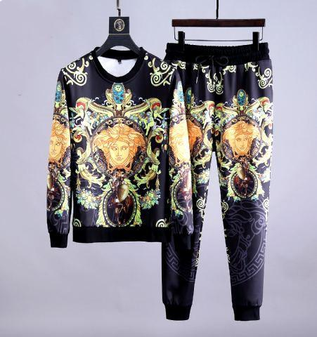 Sets de Printemps Automne Nouveau Vêtements pour hommes jeunes Manteau Casual sport Costume Survêtement pour les hommes pantalons pull femme joggingLes costumes versace