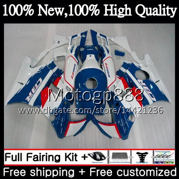 Cuerpo para HONDA CBR 600F2 93 FS CBR600 F2 91 92 93 94 46PG16 CBR600FS CBR 600 F2 CBR600F2 1991 1992 1993 1994 Carenado de carenado blanco azul