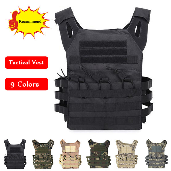 Tactical Combat Vest JPC Outdoor Hunting Wargame Paintball Protective Plate Carrier Body Armor Vest
