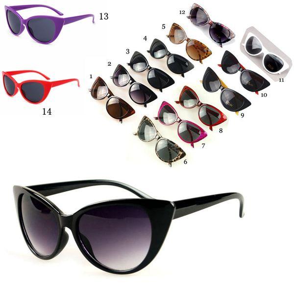 Gafas de sol para las mujeres Personalidad de la alta calidad Sexy Cat Eye Brands Gafas de sol Cateyes Anti-UV400 Sunglass MMA1839