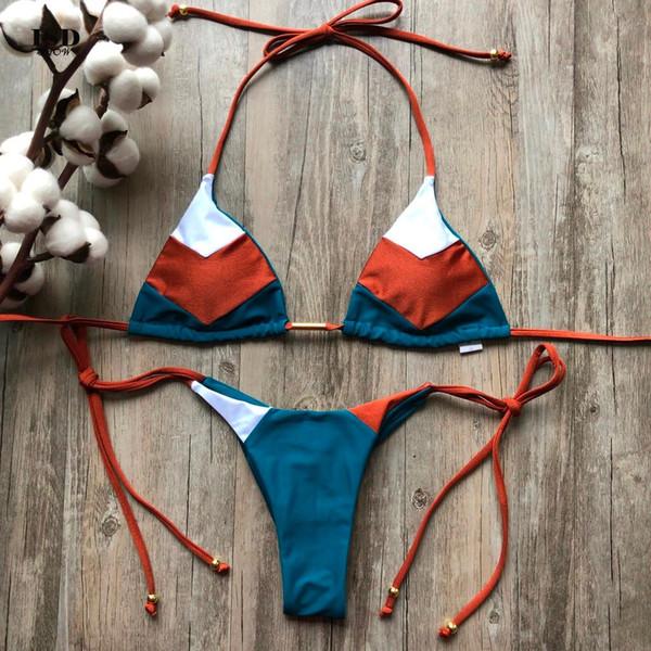 2019 new bathing suit women plus size Feshion Womens Sexy Bikini Set Hot Stamp Sport Swimwear Push-Up Padded Swimsuit #4