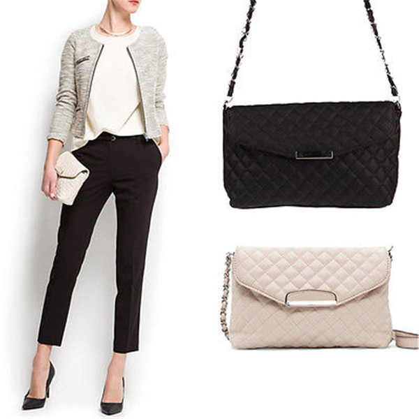 Cheap fashion Brand Women pu Handbags sheet metal Small Women Messenger Bag black Women Shoulder Bag Party Lock chain Purse