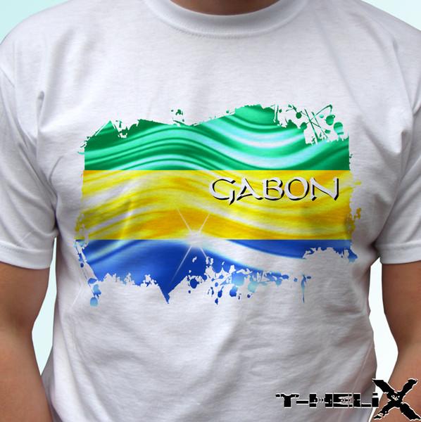 Габон флаг-белый футболка топ Африка дизайн harajuku лето 2018 футболка с коротким рукавом плюс размер цвет Джерси печати футболка