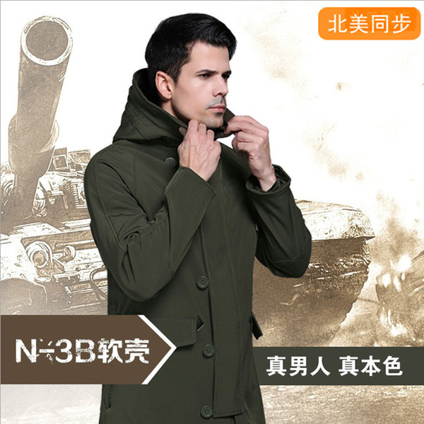 best selling N - B Male Fund Shark Soft Windbreaker Outdoors Shell Charge Clothes Men