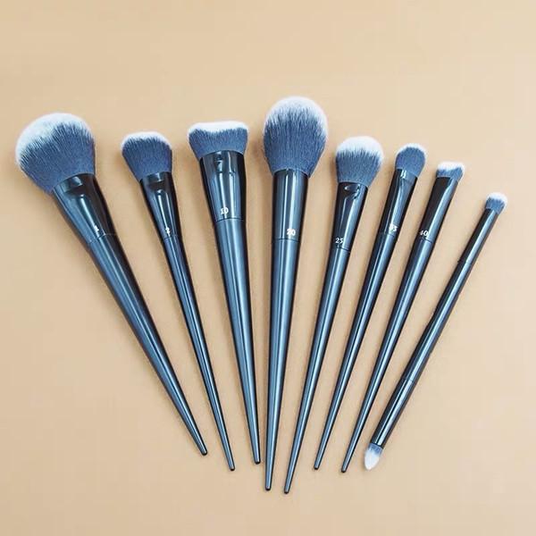 Collection de pinceaux de maquillage 8pcs / 1set KVD 1 # 2 # 4 # 10 # 20 # 25 # 40 # 40 # tête double # Fondation poudres lisses pinceau brillant