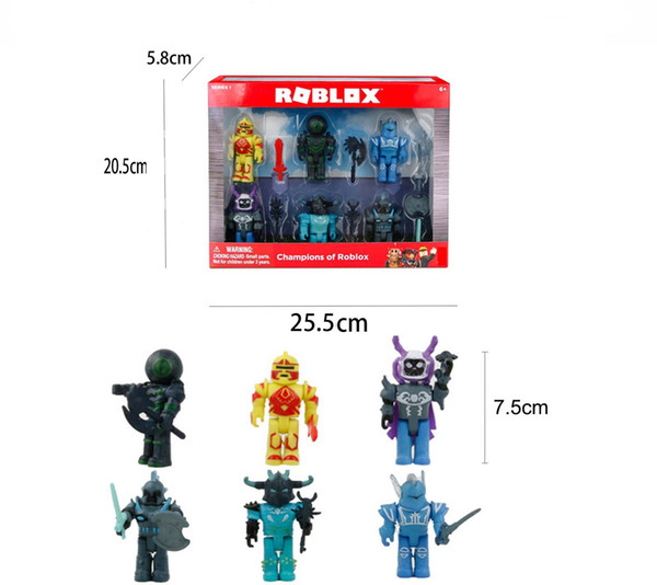 2019 7 5cm Cartoon Pvc Roblox Figma Oyuncak Action Figure Toys With Weapons  Kids Party Gift Boys Roblox Game Character Toys From Beimei20170703,