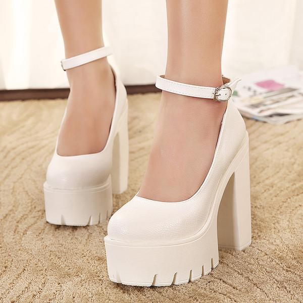 Beast2019 Woman Guangzhou Sponge Cake High-heeled Shoes Waterproof Platform Coarse With Single Shoe