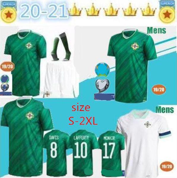Thai nouvelle qualité 2020 2021 2020 Irlande du Nord Irlande du Nord Football Maillots maison EVANS LEWIS taille MAN chemises de football S-2XL