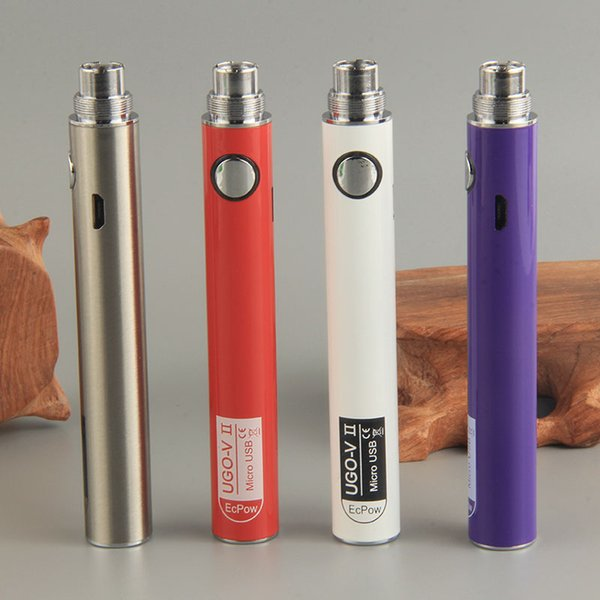UGO-V II 510 Ego Evod Batteries 650 900mAh Micro Usb Charge Ecigarette Vape Pen Battery Ecig Vaporizer E Cigarette Cartridge Battery