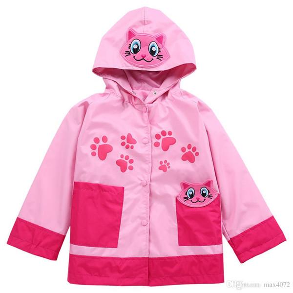 Mode Kinder Outdoor Jacke Mantel europäischen Tier Stil wasserdichte Trenchcoat für 1-6years Kinder Jungen Mädchen Regenmantel Jacke Kostüm