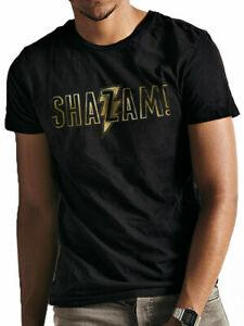 Shazam Altın Logo Resmi Kaptan Marvel Ro2019 Comics Bla2019 Erkek T-shirt