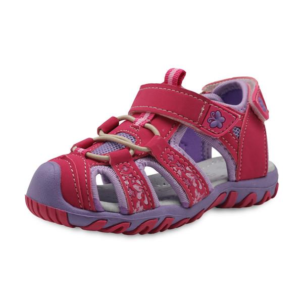 Apakowa New Girls Sport Beach Sandals Cutout Summer Kids Shoes Toddler Sandals Closed Toe Girls Sandals Children Shoes Eu 21-32 MX190727