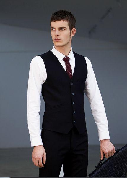 Дешевые и тонкой однобортный однобортный жилеты британский стиль для мужчин подходит для мужчин свадьба / танец / ужин лучший мужской жилет A21