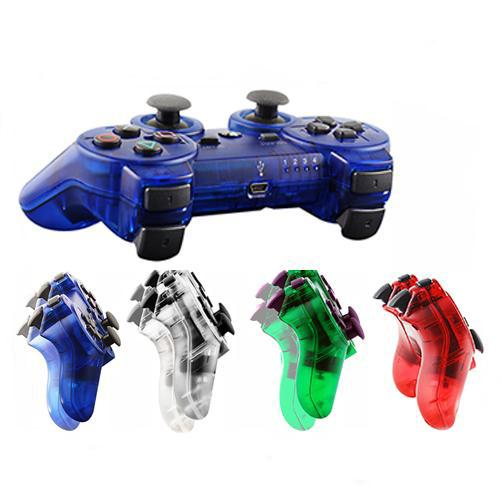 best selling Transparent controller for PS3 controller Joysticks Gamepads Wireless Bluetooth Game Controller for P3 Clear 4 Colors