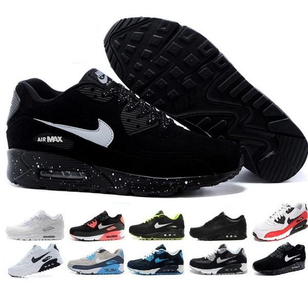 Nike Air Max 90 Airmax 2019 Nuevos 90 Zapatos Para Correr Clásico Hombres  Mujeres Zapatos Deportivos Negro Rojo Blanco Entrenador Cojín De Aire ...