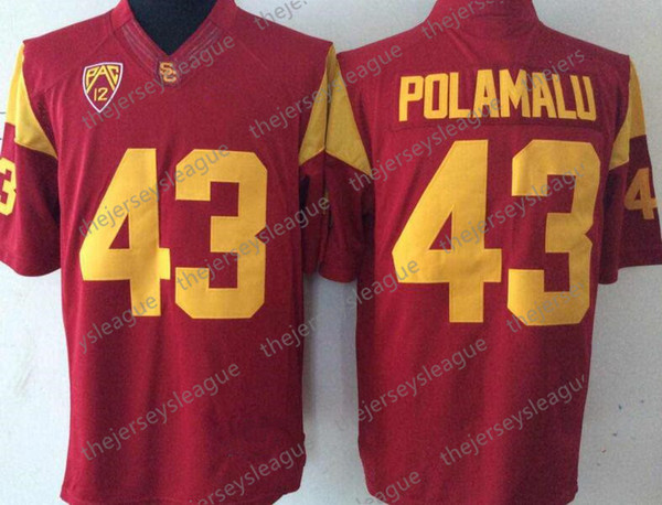 43 Troy Polamalu Red