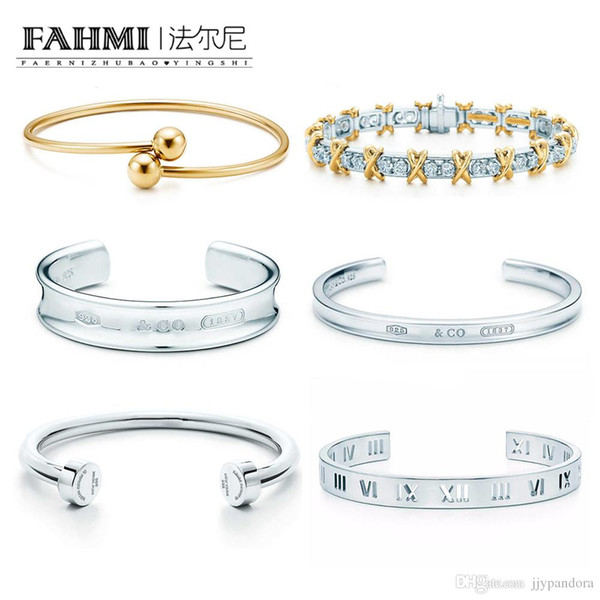 FAHMI 100% 925 Sterling Silver 1:1 Original Authentic Classic Wreath Bell Roman Numerals Exquisite Wedding Women Bracelet Jewelry