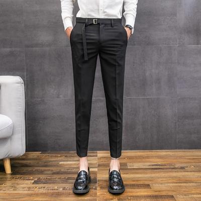 2019 primavera nuevos pantalones casuales, pantalones delgados para hombres, pantalones coreanos, hombres salvajes, nueve pantalones salvajes, tendencia