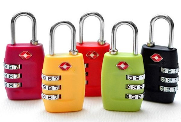 top popular TSA Security Code Luggage Locks 3 Digit Combination Steel Keyed Padlocks Approved Travel Lock for Suitcases Baggage 7colors 2021