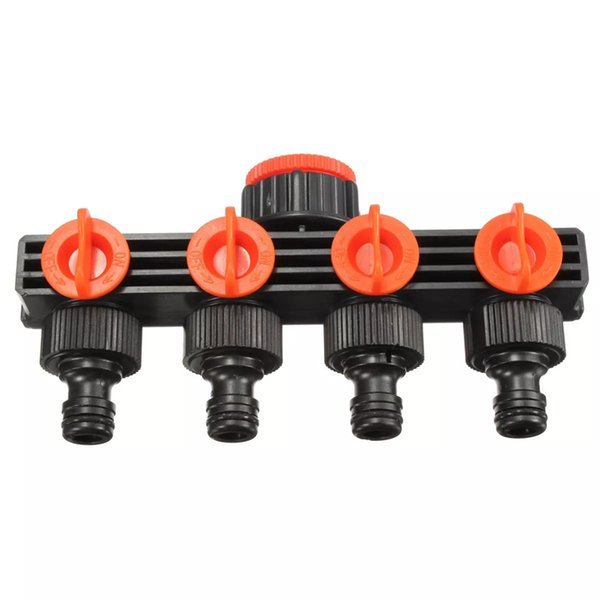 best selling 12 Inch 4 Way Splitter Garden WaterHose Tap Internal Thread Quick Connector