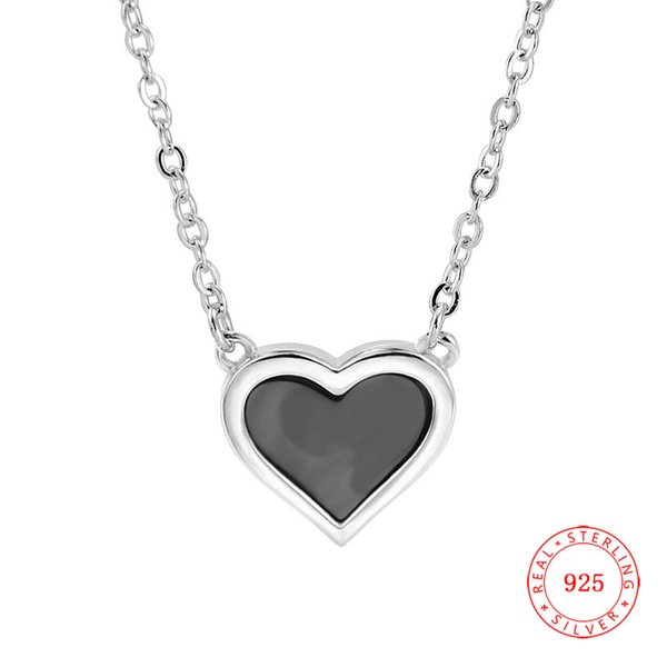 new design genuine 925 sterling silver heart shape pendant charm shell heart pendant necklace for sale