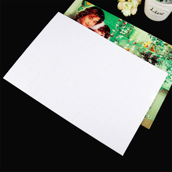 top popular MDF sublimation blank thermal transfer Pearlescent puzzle Print photo A5 blank semi-finished puzzle DIY Thermal transfer blank puzzle 2021