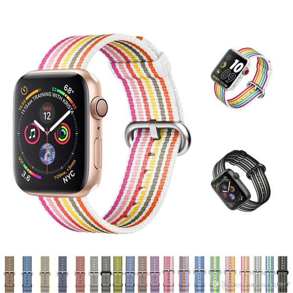 Sport woven nylon strap for apple watch band 42mm 38mm 44mm 38mm bracelet wrist belt watchband for iwatch 4/3/2/1