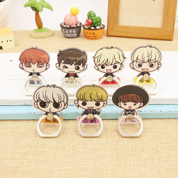 Kpop Got7 Jackson Mark Jb Bambam Junior YuGyeo Album Fly K-POP Case 360 Ring Degree Finger Stand Holder