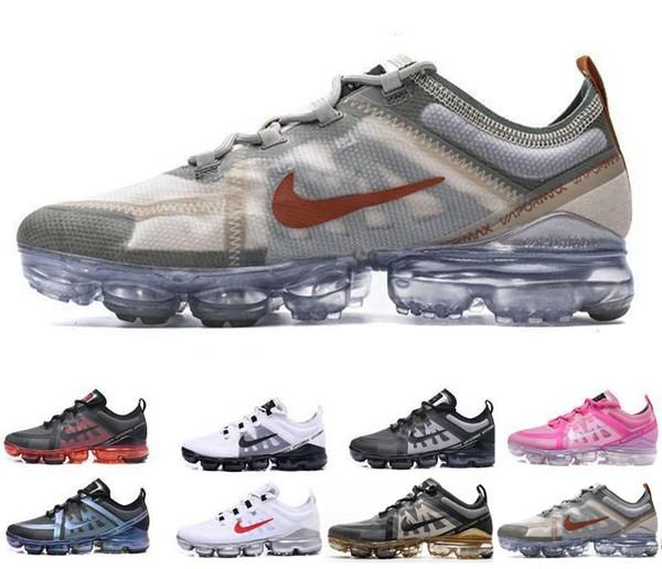 Zapatos para hombre originales Aire Rainbow barato Deportes ser azul VERDADERO oro blanco Negro Chaussures Ejecutar la utilidad ocasional oscuro tamaño de la zapatilla de deporte 40-45 Formadores
