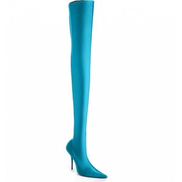 10.5cm Wholesale reizvolle Frau der Schenkel-Absatzdamen reizvoll bequemes über dem Knie lange elastische Aufladungen