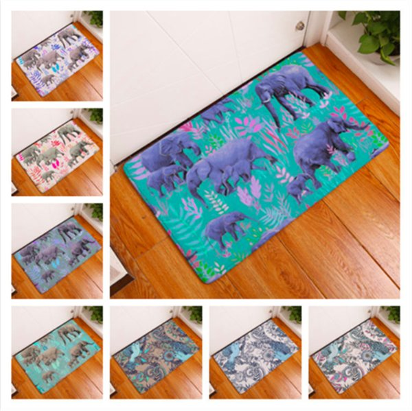 Pop Art Elephant Bird Flower Doormat Bath Kitchen Carpet Decorative Anti-Slip Mats Room Car Floor Bar Rugs Door Home Decor Gift