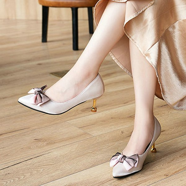 Designer Dress Shoes 2019 New Butterfly-knot Sexy Women High Heels Ankle Hook-Loop Pointed Toe Stiletto Pumps Ladies Banquet Party Woman