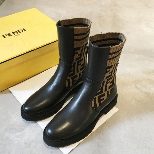 botas 2019c novos de moda em couro tornozelo, botas de luxo das mulheres, botas de alta qualidade malha senhoras com caixa de embalagem original e tamanho do logotipo: 35-41