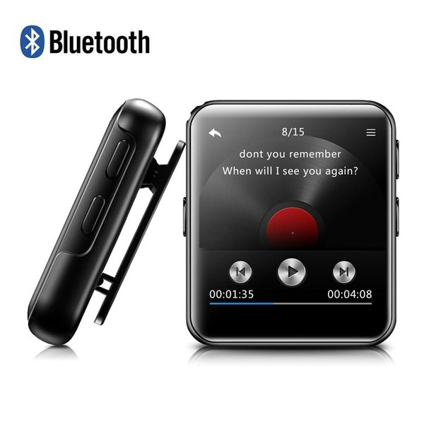 MP3 Player Bluetooth4.2 with Clip HiFi Metal Audio Music Player with FM, Recorder Touch Screen Wrist MP3 for Running